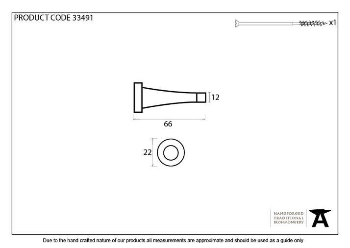 Black Projection Door Stop Image 2