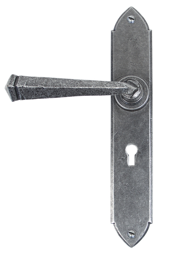 Pewter Gothic Lever Lock Set Image 1
