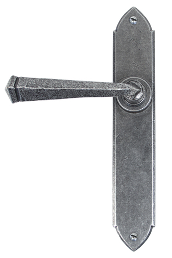 Pewter Gothic Lever Latch Set Image 1