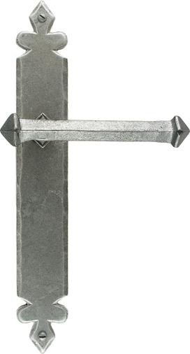 Pewter Tudor Lever Latch Set Image 1