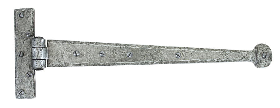Pewter 15'' Penny End T Hinge (pair) Image 1