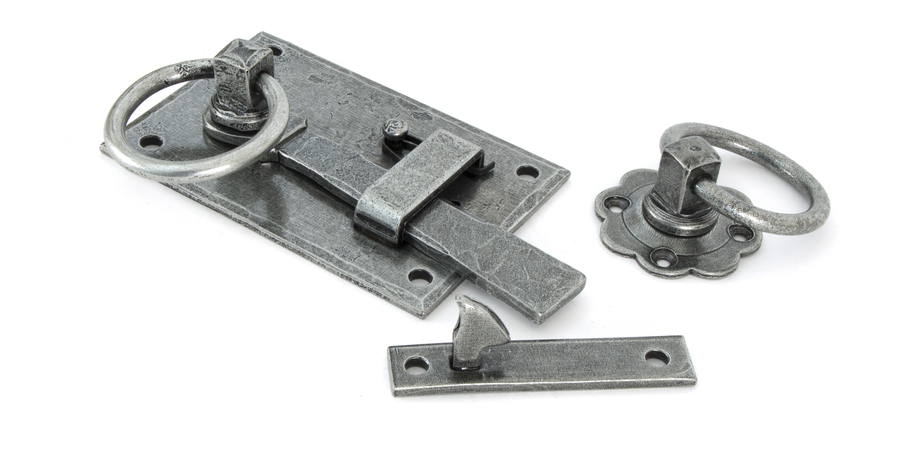 Pewter Cottage Latch - LH Image 1