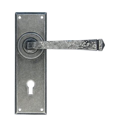 Pewter Avon Lever Lock Set Image 1