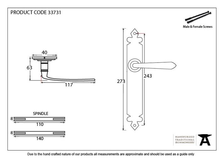 Pewter Cromwell Lever Latch Set Image 2