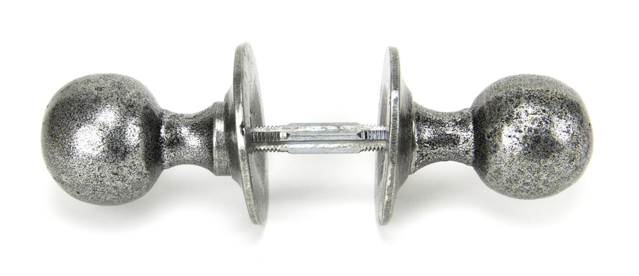 Pewter Round Mortice/Rim Knob Set Image 3