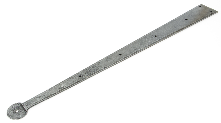 Pewter 24'' Penny End Hinge Front (pair) Image 1