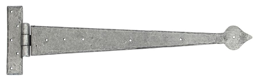 Pewter 22'' Arrow Head T Hinge (pair) Image 1