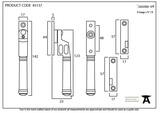 Pewter Locking Night-Vent Regency Fastener Image 4 Thumbnail