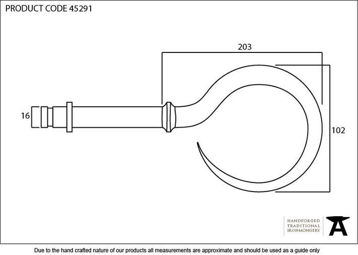 Pewter Hook Curtain Finial (Pair) Image 2
