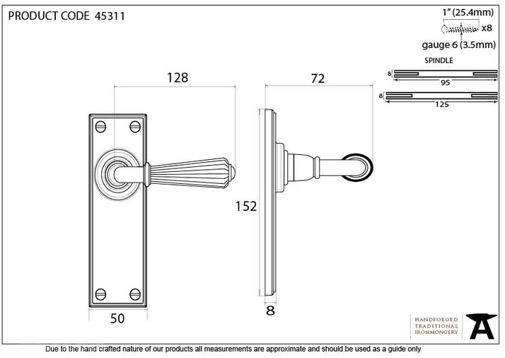 Aged Brass Hinton Lever Latch Set Image 4