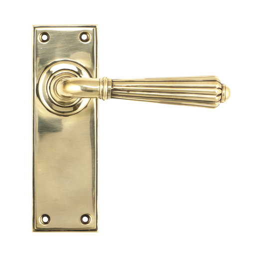 Aged Brass Hinton Lever Latch Set Image 1