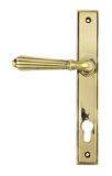 Aged Brass Hinton Slimline Lever Espag. Lock Set Image 1 Thumbnail