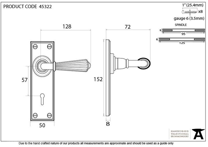 Polished Nickel Hinton Lever Lock Set Image 5