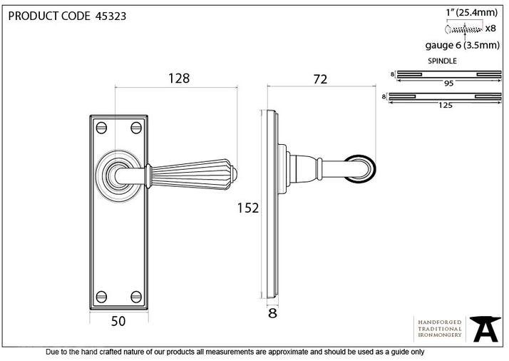 Polished Nickel Hinton Lever Latch Set Image 5
