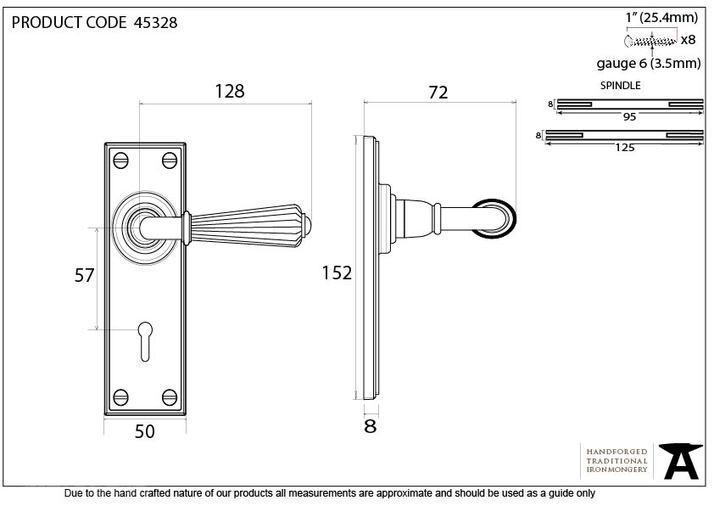 Aged Bronze Hinton Lever Lock Set Image 4