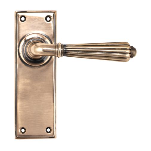 Polished Bronze Hinton Lever Latch Set Image 1