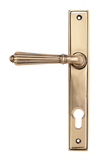 Polished Bronze Hinton Slimline Lever Espag. Lock Set Image 1 Thumbnail