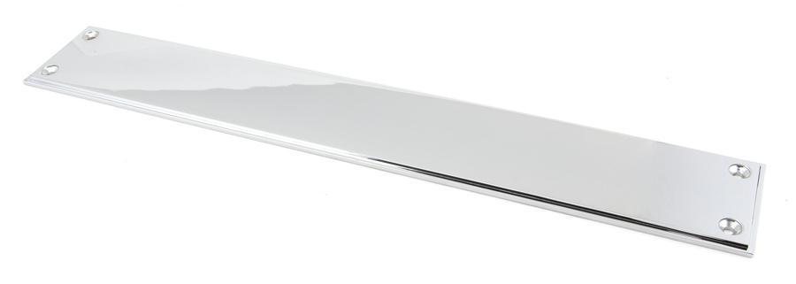 Polished Chrome 425mm Art Deco Fingerplate Image 1