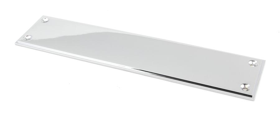 Polished Chrome 300mm Art Deco Fingerplate Image 1