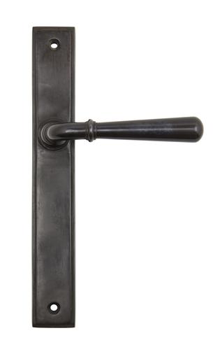 Aged Bronze Newbury Slimline Lever Latch Set Image 1