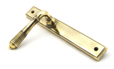 Aged Brass Reeded Slimline Lever Latch Set Image 2 Thumbnail