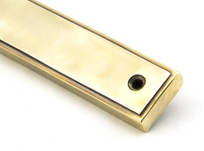 Aged Brass Reeded Slimline Lever Latch Set Image 7