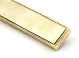 Aged Brass Reeded Slimline Lever Latch Set Image 8 Thumbnail