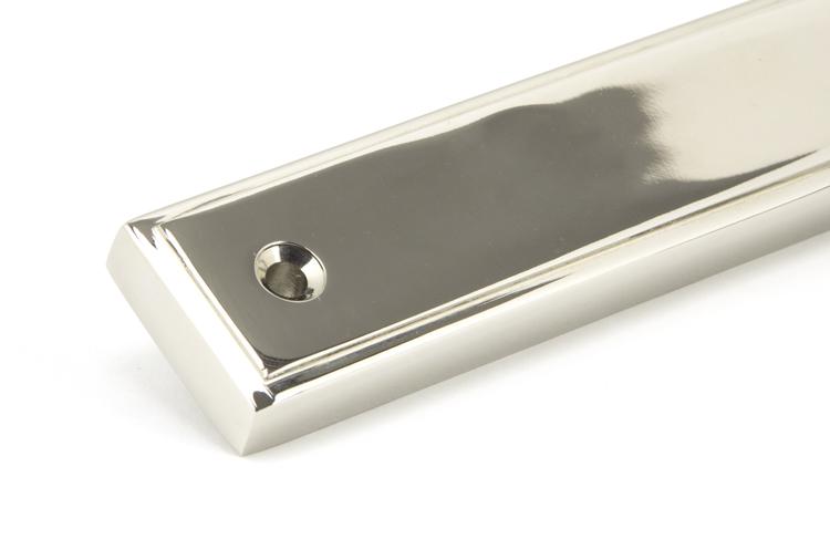 Polished Nickel Reeded Slimline Lever Latch Set Image 6