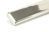Polished Nickel Reeded Slimline Lever Latch Set Image 7 Thumbnail