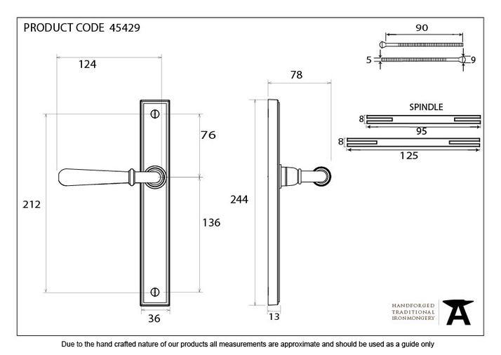 Aged Brass Newbury Slimline Lever Latch Set Image 9
