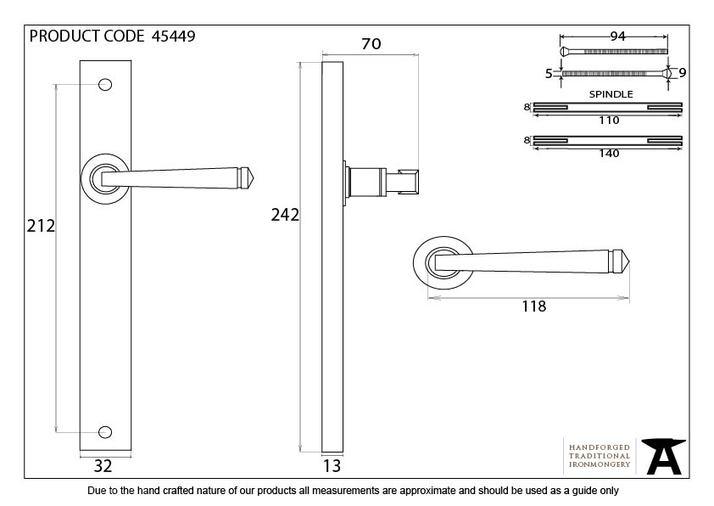 Polished Nickel Avon Slimline Lever Latch Set Image 6