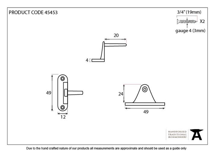 Polished Nickel Cranked Casement Stay Pin Image 2