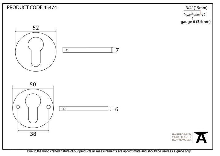 Polished Nickel 52mm Regency Concealed Escutcheon Image 4