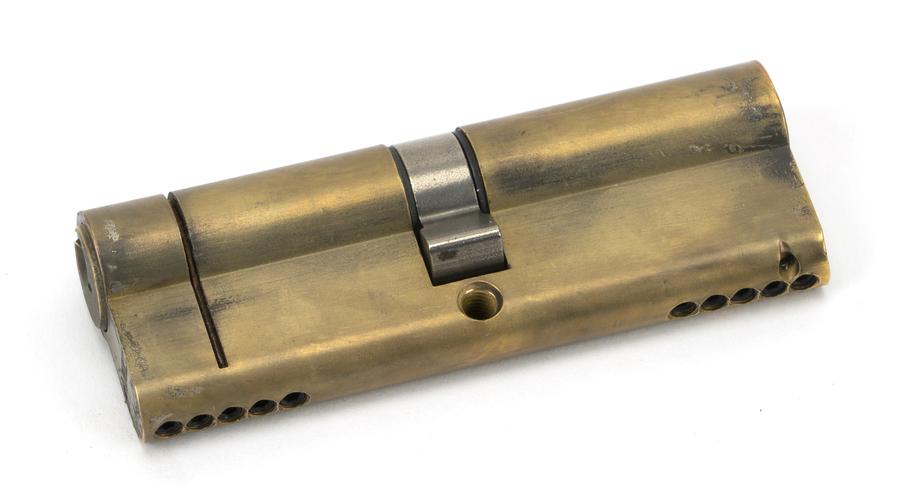 Aged Brass 45/45 5pin Euro Cylinder KA Image 1