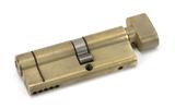 Aged Brass 35T/45 5pin Euro Cylinder/Thumbturn Image 1 Thumbnail