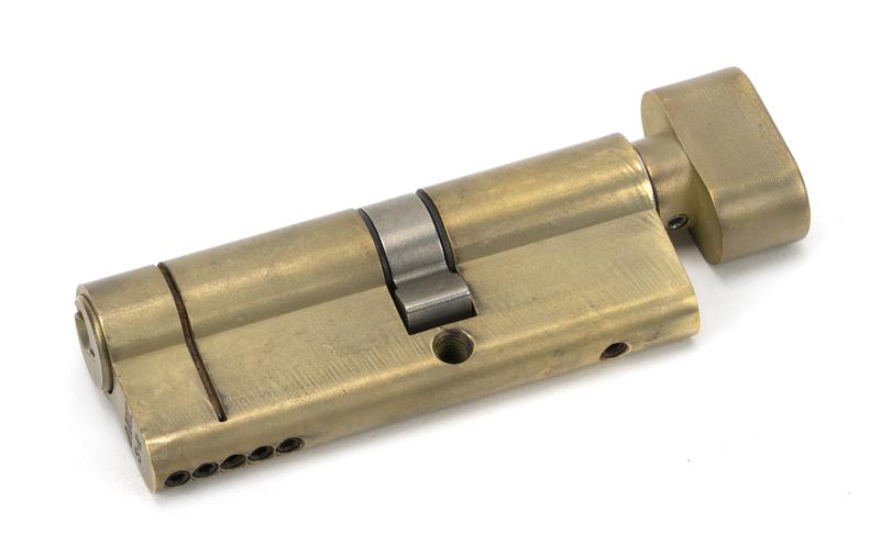 Aged Brass 35T/45 5pin Euro Cylinder/Thumbturn Image 1