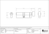 Pewter 45/45 5pin Euro Cylinder/Thumbturn Image 2 Thumbnail
