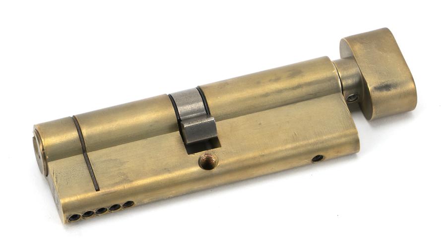 Aged Brass 45/45 5pin Euro Cylinder/Thumbturn Image 1
