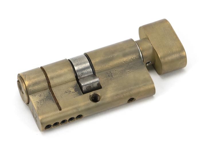 Aged Brass 30/30 5pin Euro Cylinder/Thumbturn KA Image 1