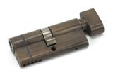 Aged Brass 35/35 5pin Euro Cylinder/Thumbturn KA Image 1 Thumbnail