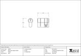 Pewter 30/10 5pin Single Cylinder Image 2 Thumbnail