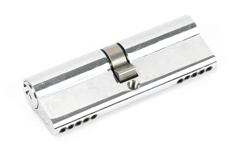 Polished Chrome 45/45 5pin Euro Cylinder Image 1