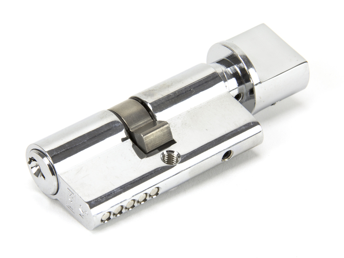 Polished Chrome 30/30 5pin Euro Cylinder/Thumbturn KA Image 1