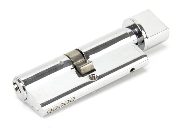 Polished Chrome 40/40 5pin Euro Cylinder/Thumbturn KA Image 1
