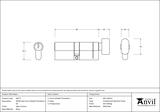 Satin Chrome 40/40 5pin Euro Cylinder/Thumbturn KA Image 2 Thumbnail