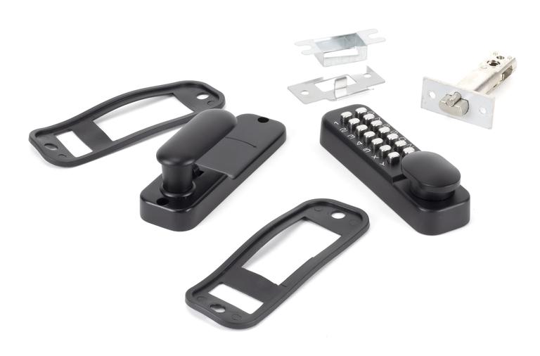 Black Digital Keypad Lock + 60mm Backset Latch Bolt Image 2