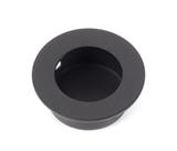Black 30mm Ø Small Flush Pull Image 1 Thumbnail