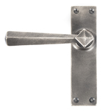 Antique Pewter Straight Lever Latch Set Image 1 Thumbnail