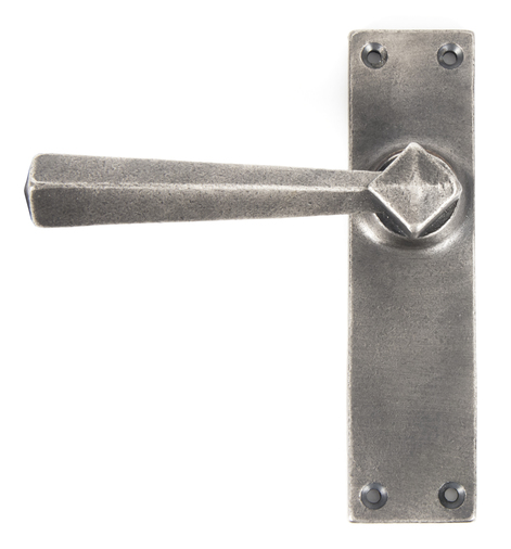 Antique Pewter Straight Lever Latch Set Image 1