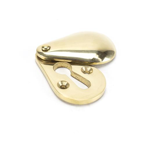Polished Brass Plain Escutcheon Image 1